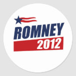 ROMNEY 2012 CLASSIC ROUND STICKER