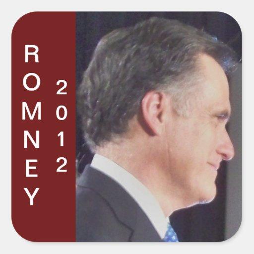 Romney 2012 Color Photo Square Sticker