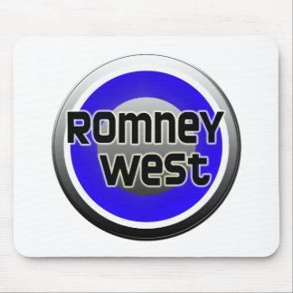 Romney 2012 del oeste alfombrillas de ratones