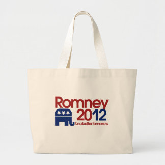 Romney 2012 for a better tomorrow canvas bags