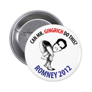 Romney 2012 Humor Pins