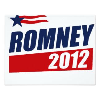 ROMNEY 2012 INVITACIÓN 10,8 X 13,9 CM