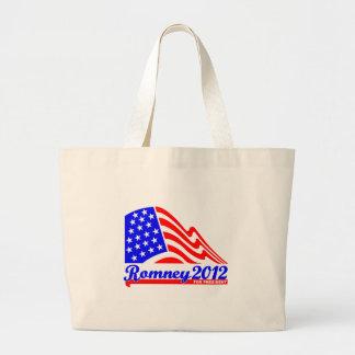 Romney 2012 large tote bag