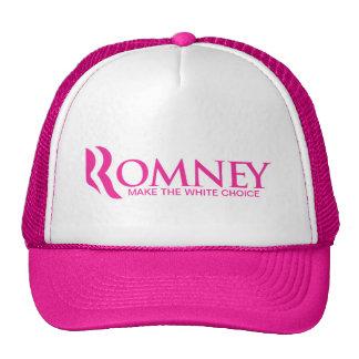 "Romney 2012 - Make the ""white"" Choice Trucker Hat"