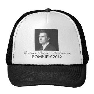 Romney 2012 mesh hat