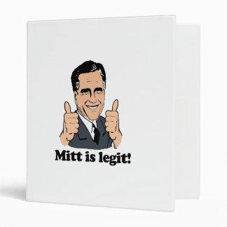 ROMNEY 2012 - MITT IS LEGIT.png Vinyl Binder