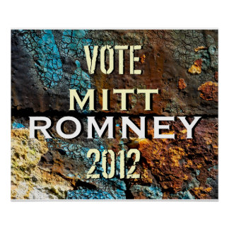 Romney 2012 Modern Campaign Poster