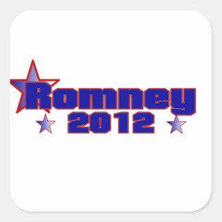 Romney 2012 pegatina cuadrada