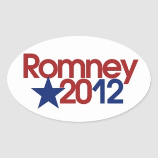 Romney 2012 pegatina ovalada