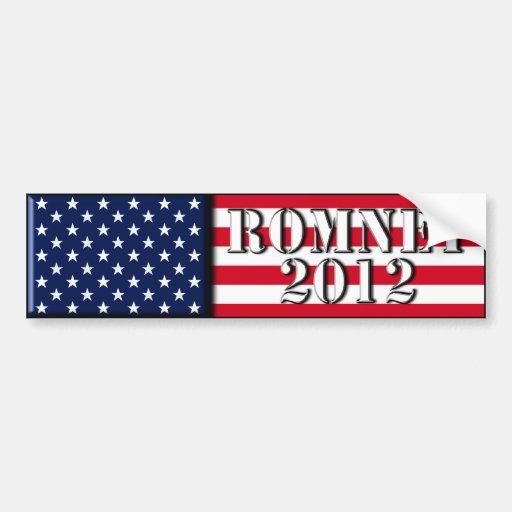 Romney 2012 - pegatina para el parachoques etiqueta de parachoque