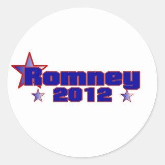 Romney 2012 pegatina redonda