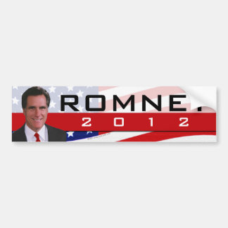 Romney 2012 Photo Bumper Sticker
