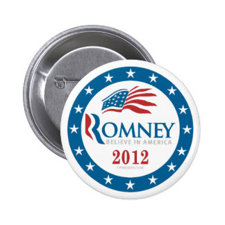 Romney 2012 pin redondo de 2 pulgadas