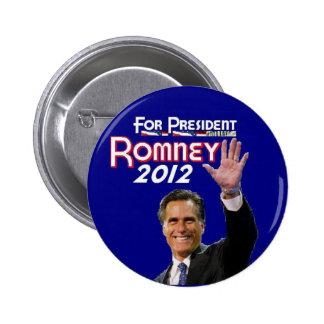 Romney 2012 pinback button