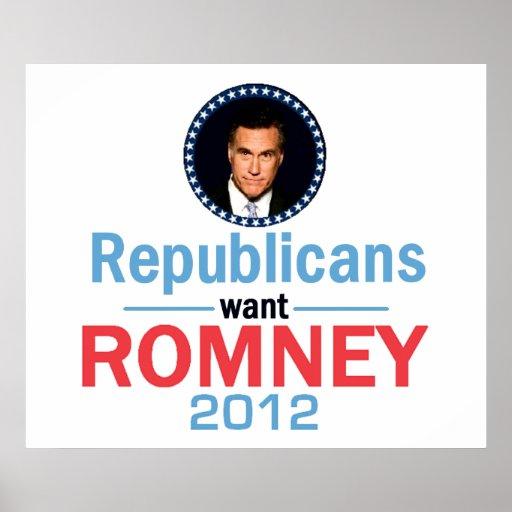 Romney 2012 POSTER Print
