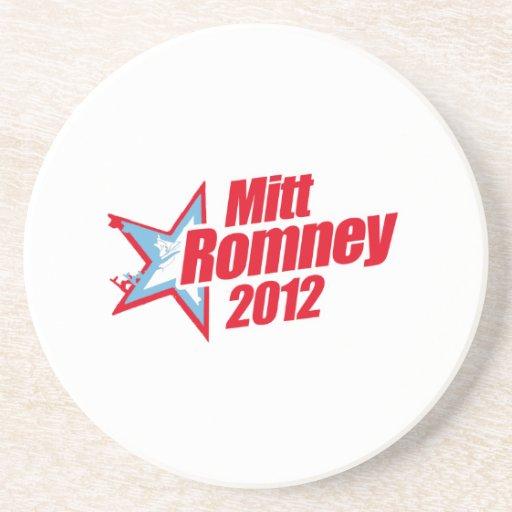 ROMNEY 2012 (republicano de la estrella) Posavasos Para Bebidas