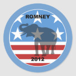 Romney 2012 round sticker