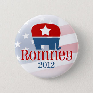 Romney 2012, Single Star Elephant Graphic Button