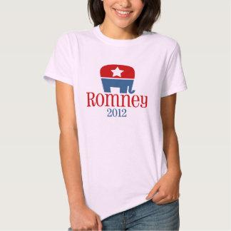 Romney 2012, Single Star Elephant Graphic Shirt