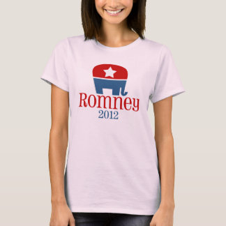 Romney 2012, Single Star Elephant Graphic T-Shirt