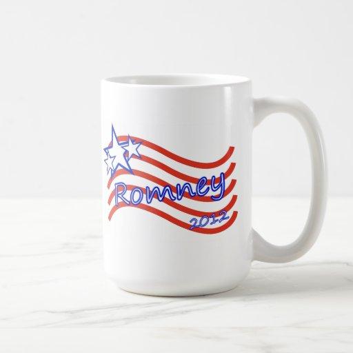 Romney 2012 Stripes With 3 Stars Coffee Mug