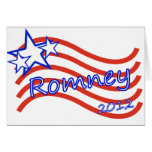 Romney 2012 Stripes With 3 Stars Greeting Card