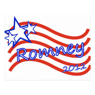 Romney 2012 Stripes With 3 Stars Postcard