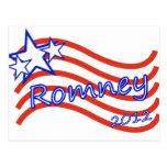 Romney 2012 Stripes With 3 Stars Postcards