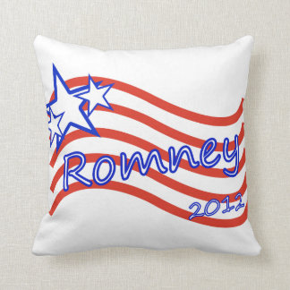 Romney 2012 Stripes With 3 Stars Throw Pillows