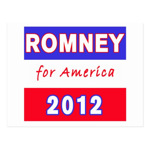 Romney 2012 tarjetas postales
