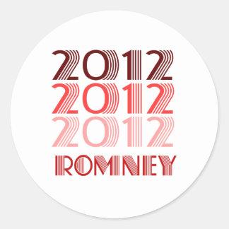 ROMNEY 2012 VINTAGE CLASSIC ROUND STICKER