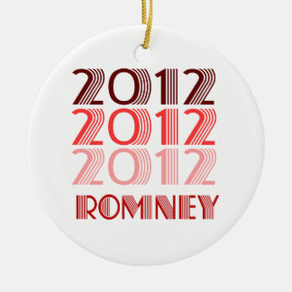 ROMNEY 2012 VINTAGE Double-Sided CERAMIC ROUND CHRISTMAS ORNAMENT