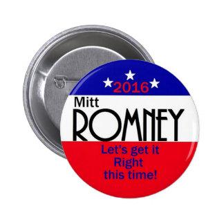 Romney 2016 button