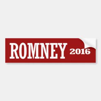 ROMNEY 2016 CAR BUMPER STICKER