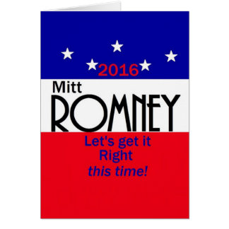 Romney 2016 card