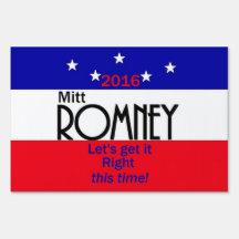 Romney 2016 sign