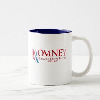 Romney - abrazando las políticas liberales desde 2 tazas de café