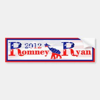 Romney and Ryan 2012 Bumper Sticker