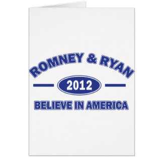 Romney And Ryan 2012 Card