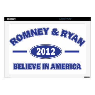"Romney And Ryan 2012 Decal For 17"" Laptop"