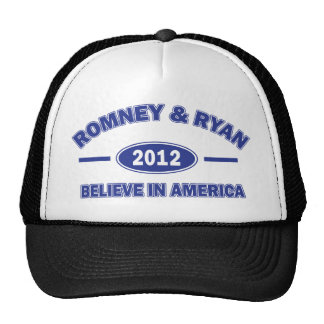 Romney And Ryan 2012 Hats
