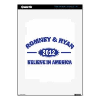 Romney And Ryan 2012 iPad 3 Decal