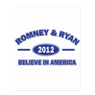 Romney And Ryan 2012 Postcard
