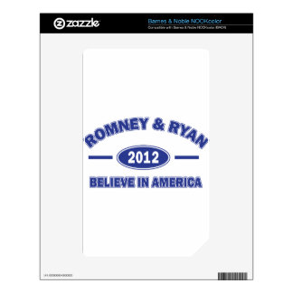 Romney And Ryan 2012 Skin For NOOK Color