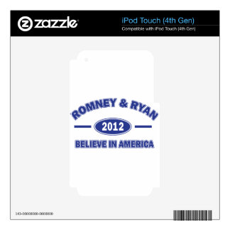 Romney And Ryan 2012 Decal For iPod Touch 4G
