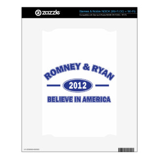 Romney And Ryan 2012 Decals For The NOOK