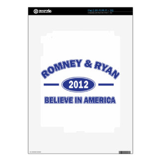 Romney And Ryan 2012 Skin For The iPad 2