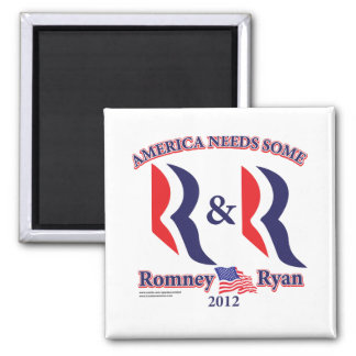 Romney and Ryan 2 Inch Square Magnet
