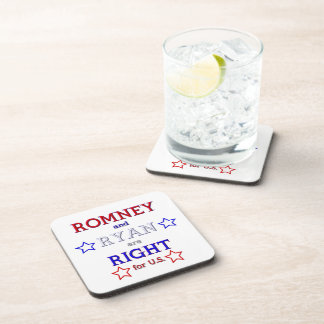 Romney and Ryan are Right for U.S. Beverage Coaster