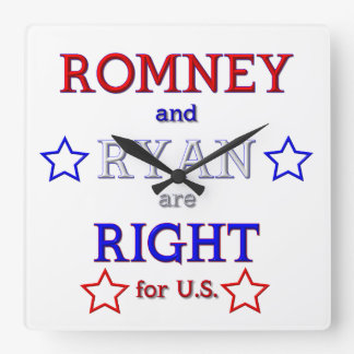 Romney and Ryan are Right for U.S. Wall Clocks
